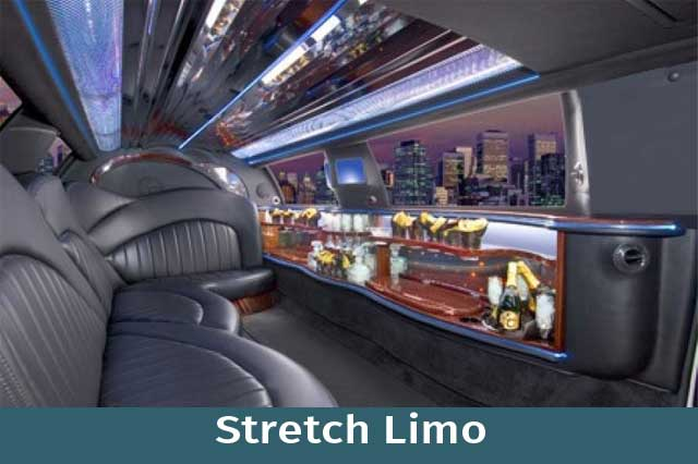 Stretch limo Interior View