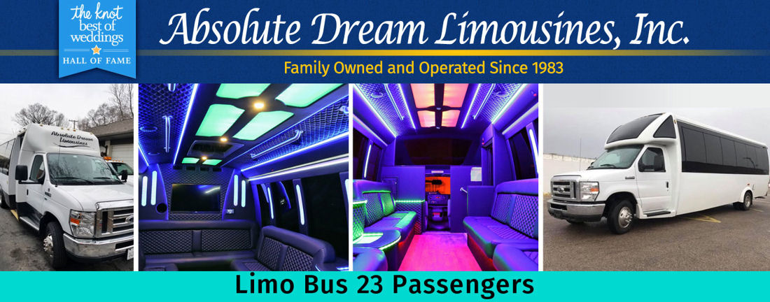 23 Passenger Wedding Limo Bus